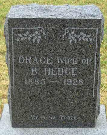 HEDGE, GRACE - Dundy County, Nebraska | GRACE HEDGE - Nebraska Gravestone Photos