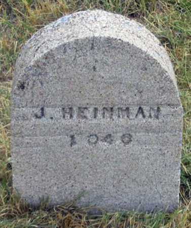 HEINMAN, J. ? - Dundy County, Nebraska | J. ? HEINMAN - Nebraska Gravestone Photos