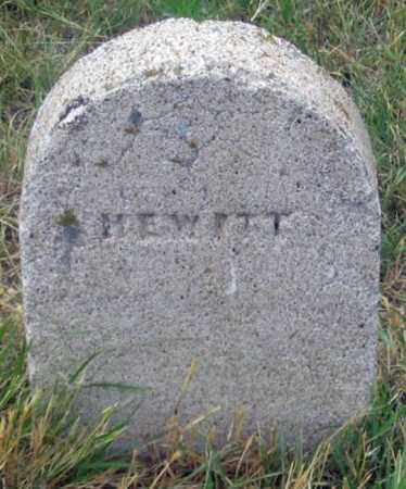 HEWITT, UNKNOWN - Dundy County, Nebraska | UNKNOWN HEWITT - Nebraska Gravestone Photos