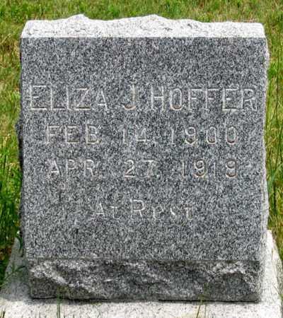 HOFFER, ELIZA J. - Dundy County, Nebraska | ELIZA J. HOFFER - Nebraska Gravestone Photos