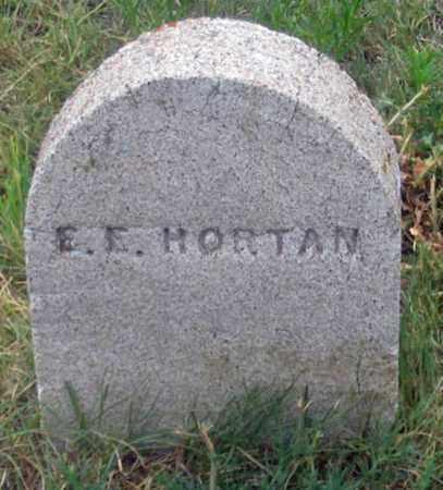 HORTAN, F. E. ? - Dundy County, Nebraska   F. E. ? HORTAN - Nebraska Gravestone Photos