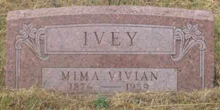 IVEY, MIMA VIVIAN - Dundy County, Nebraska | MIMA VIVIAN IVEY - Nebraska Gravestone Photos