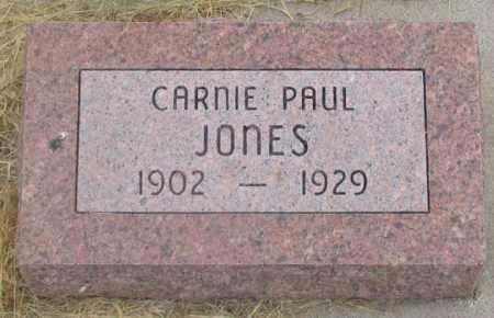 JONES, CARNIE PAUL - Dundy County, Nebraska | CARNIE PAUL JONES - Nebraska Gravestone Photos