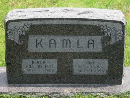 BECKEL KAMLA, BERTHA - Dundy County, Nebraska   BERTHA BECKEL KAMLA - Nebraska Gravestone Photos