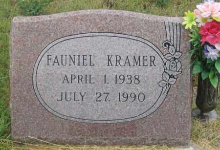 KRAMER, FAUNIEL - Dundy County, Nebraska | FAUNIEL KRAMER - Nebraska Gravestone Photos
