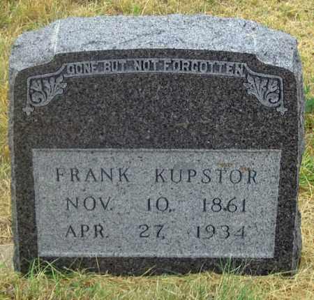 KUPSTOR, FRANK - Dundy County, Nebraska | FRANK KUPSTOR - Nebraska Gravestone Photos