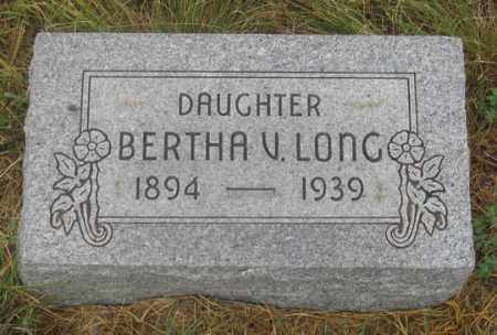 LONG, BERTHA V. - Dundy County, Nebraska   BERTHA V. LONG - Nebraska Gravestone Photos