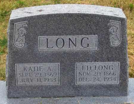 GOCKLEY LONG, KATIE AMELIA - Dundy County, Nebraska | KATIE AMELIA GOCKLEY LONG - Nebraska Gravestone Photos