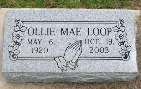 LOOP, OLLIE MAE - Dundy County, Nebraska | OLLIE MAE LOOP - Nebraska Gravestone Photos