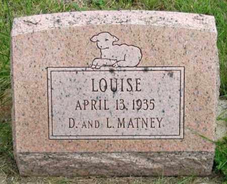 MATNEY, LOUISE - Dundy County, Nebraska   LOUISE MATNEY - Nebraska Gravestone Photos
