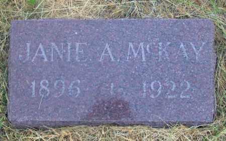 "MCKAY, JANE A. ""JANIE"" - Dundy County, Nebraska   JANE A. ""JANIE"" MCKAY - Nebraska Gravestone Photos"