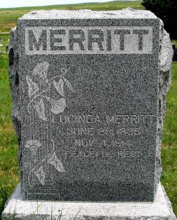 MERRITT, LUCINDA - Dundy County, Nebraska | LUCINDA MERRITT - Nebraska Gravestone Photos
