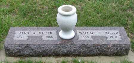 MILLER, WALLACE E. - Dundy County, Nebraska | WALLACE E. MILLER - Nebraska Gravestone Photos