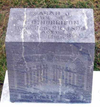 MORRISON, SARAH J. - Dundy County, Nebraska | SARAH J. MORRISON - Nebraska Gravestone Photos