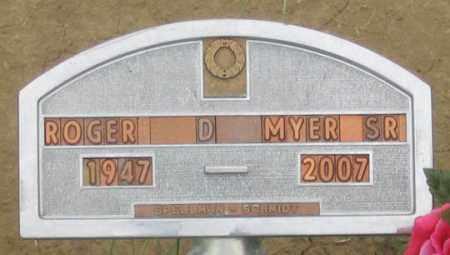 MYER, ROGER D. SR. - Dundy County, Nebraska   ROGER D. SR. MYER - Nebraska Gravestone Photos
