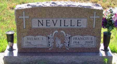 NEVILLE, FRANCIS E. - Dundy County, Nebraska | FRANCIS E. NEVILLE - Nebraska Gravestone Photos