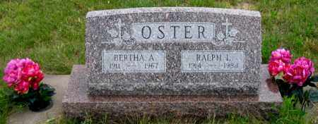 OSTER, BERTHA A. - Dundy County, Nebraska | BERTHA A. OSTER - Nebraska Gravestone Photos