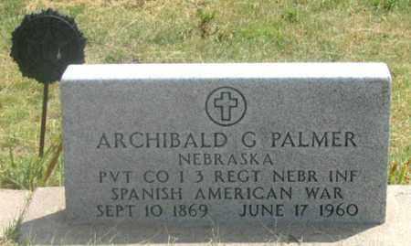PALMER, ARCHIBALD GRANT - Dundy County, Nebraska | ARCHIBALD GRANT PALMER - Nebraska Gravestone Photos