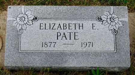 PATE, ELIZABETH E. - Dundy County, Nebraska   ELIZABETH E. PATE - Nebraska Gravestone Photos