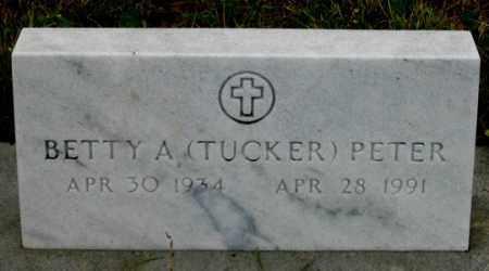 PETER, BETTY A. - Dundy County, Nebraska | BETTY A. PETER - Nebraska Gravestone Photos