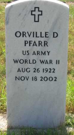 PFARR, ORVILLE D. - Dundy County, Nebraska | ORVILLE D. PFARR - Nebraska Gravestone Photos