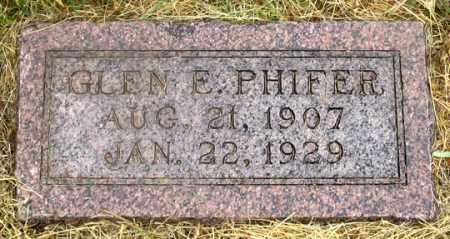 PHIFER, GLEN ELLSWORTH - Dundy County, Nebraska | GLEN ELLSWORTH PHIFER - Nebraska Gravestone Photos