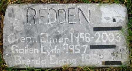 REDDEN, GLENN ELMER - Dundy County, Nebraska   GLENN ELMER REDDEN - Nebraska Gravestone Photos