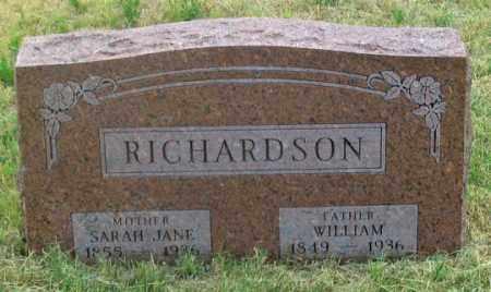 RICHARDSON, SARAH JANE - Dundy County, Nebraska | SARAH JANE RICHARDSON - Nebraska Gravestone Photos