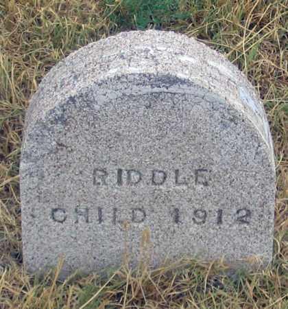 RIDDLE, CHILD 1912 - Dundy County, Nebraska | CHILD 1912 RIDDLE - Nebraska Gravestone Photos