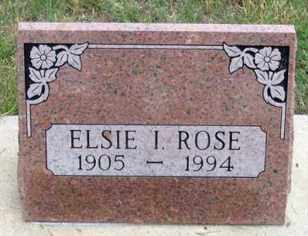 ROSE, ELSIE I. - Dundy County, Nebraska | ELSIE I. ROSE - Nebraska Gravestone Photos