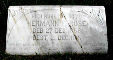 ROSE, HERMANN FREDRICK - Dundy County, Nebraska | HERMANN FREDRICK ROSE - Nebraska Gravestone Photos