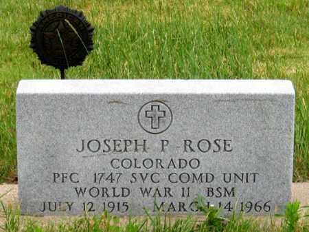 ROSE, JOSEPH P. - Dundy County, Nebraska   JOSEPH P. ROSE - Nebraska Gravestone Photos