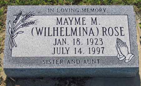 ROSE, MAYME M. (WILHELMINA) - Dundy County, Nebraska | MAYME M. (WILHELMINA) ROSE - Nebraska Gravestone Photos