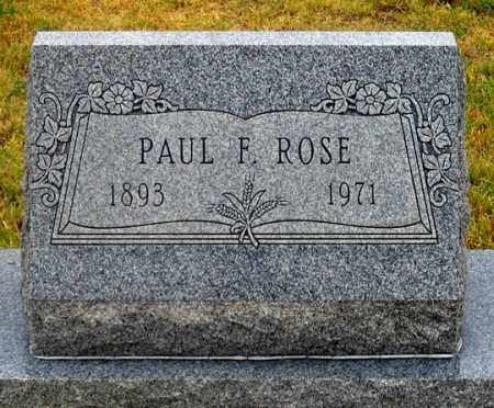 ROSE, PAUL FREDERICK - Dundy County, Nebraska | PAUL FREDERICK ROSE - Nebraska Gravestone Photos