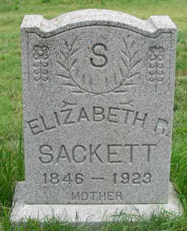 SACKETT, ELIZABETH R. (LIBBY) - Dundy County, Nebraska | ELIZABETH R. (LIBBY) SACKETT - Nebraska Gravestone Photos
