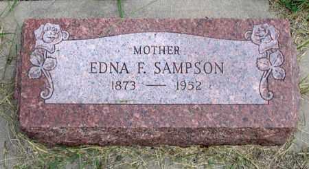 SAMPSON, EDNA FLORENCE - Dundy County, Nebraska | EDNA FLORENCE SAMPSON - Nebraska Gravestone Photos