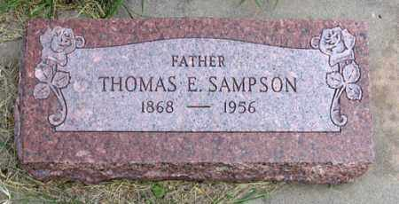 SAMPSON, THOMAS E. - Dundy County, Nebraska | THOMAS E. SAMPSON - Nebraska Gravestone Photos