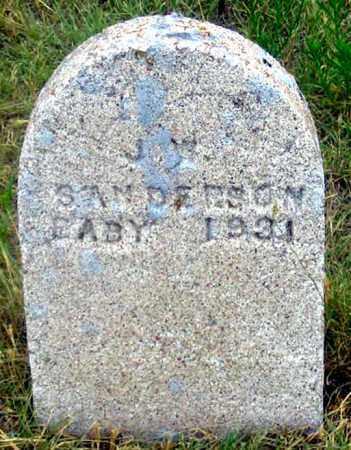 SANDERSON, J. (JEAN?) BABY - Dundy County, Nebraska | J. (JEAN?) BABY SANDERSON - Nebraska Gravestone Photos