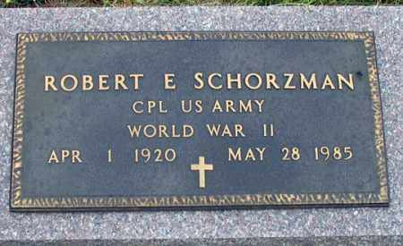 SCHORZMAN, ROBERT E. - Dundy County, Nebraska | ROBERT E. SCHORZMAN - Nebraska Gravestone Photos