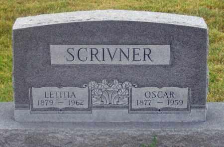 SCRIVNER, OSCAR - Dundy County, Nebraska | OSCAR SCRIVNER - Nebraska Gravestone Photos