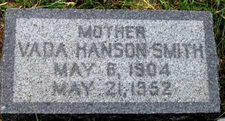 SMITH, VADA HANSON - Dundy County, Nebraska | VADA HANSON SMITH - Nebraska Gravestone Photos