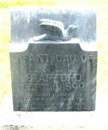 STAFFORD, INFANT DAUGHTER - Dundy County, Nebraska | INFANT DAUGHTER STAFFORD - Nebraska Gravestone Photos