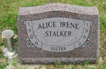STALKER, ALICE IRENE - Dundy County, Nebraska | ALICE IRENE STALKER - Nebraska Gravestone Photos