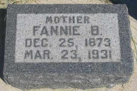 TECKER, FANNIE B. - Dundy County, Nebraska   FANNIE B. TECKER - Nebraska Gravestone Photos