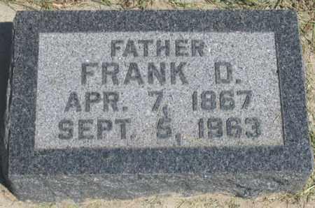 TECKER, FRANK D. - Dundy County, Nebraska | FRANK D. TECKER - Nebraska Gravestone Photos
