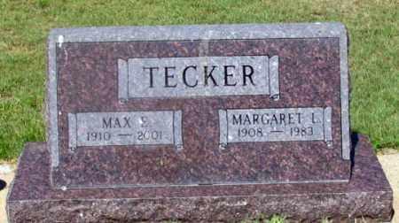 TECKER, MARGARET L. - Dundy County, Nebraska | MARGARET L. TECKER - Nebraska Gravestone Photos