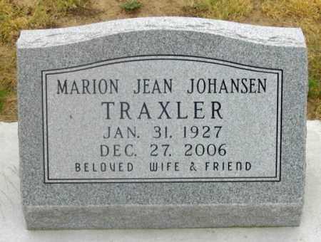 TRAXLER, MARION JEAN - Dundy County, Nebraska | MARION JEAN TRAXLER - Nebraska Gravestone Photos