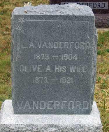 VANDERFORD, OLIVE ANETTA - Dundy County, Nebraska | OLIVE ANETTA VANDERFORD - Nebraska Gravestone Photos