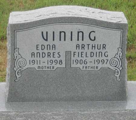 VINING, ARTHUR FIELDING - Dundy County, Nebraska | ARTHUR FIELDING VINING - Nebraska Gravestone Photos