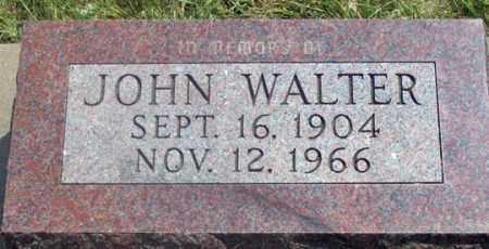 WALTER, JOHN - Dundy County, Nebraska | JOHN WALTER - Nebraska Gravestone Photos